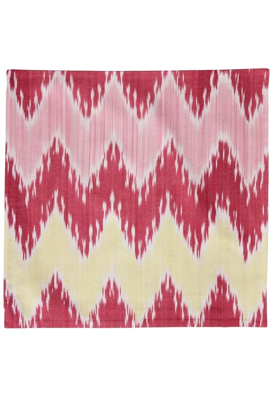 Silk Ikat Pillow 50 x 50 GR Pyramide 2