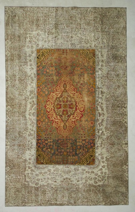 Patchwork Carpet Grey Green 29876