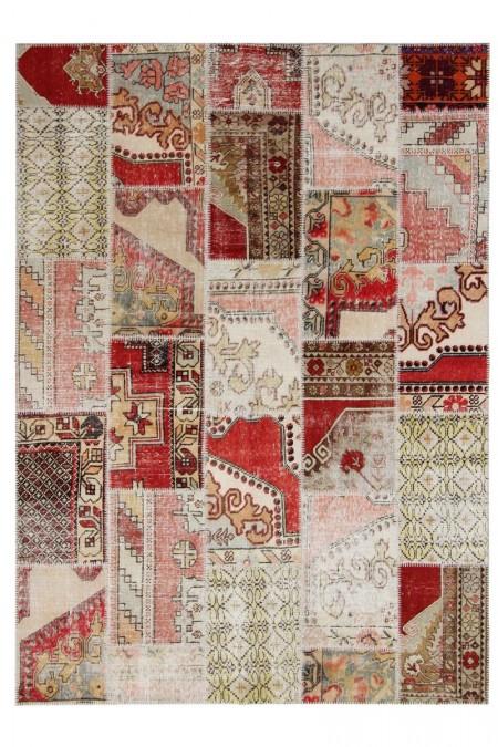 Patchwork Beige/Red 240 x 170 30185