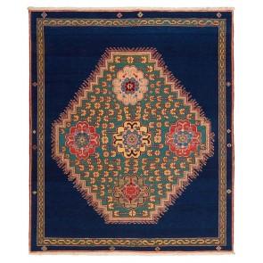Yenikoy Carpet Blue Green Medallion 17972