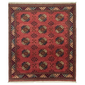 Ersari Carpet Red Elephant Foot Design 294 x 259 24091