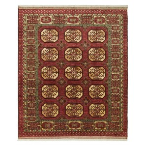 Ersari Carpet Red Elephant Design 250 x 212 24093
