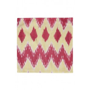 Silk Ikat Pillow 50 x 50 GR Pyramide 1