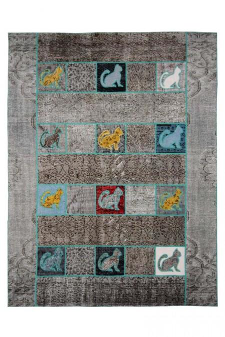 Patchwork Art Grey Cat 221 x 170 29086