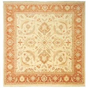 Samarkand Square Carpet Cream Red 25975
