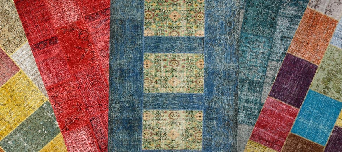 Magnifique tapis Patchwork fait main