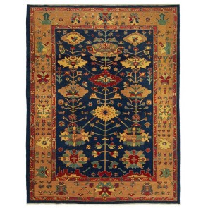 Yenikoy Carpet Blue Pinkish Yellow 19700