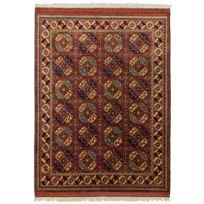 Ersari Carpet Red Elephant Design 269 x 205 23756