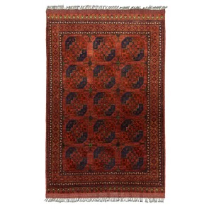 Ersari Carpet Red Elephant Design 276 x 183 23831