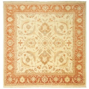 Samarkand Square Carpet Cream Red 25975