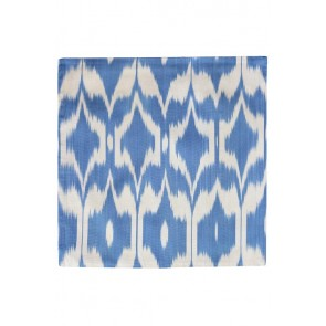 Silk Ikat Pillow 50 x 50 BW Oog 1