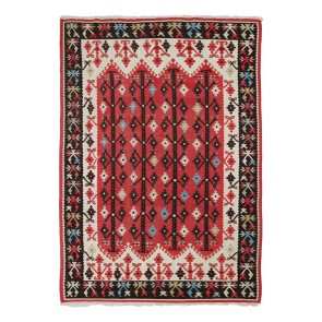 Sarkoy Kilim 237 x 167 Red Old
