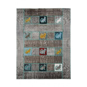 Patchwork Art Grey Cat 221 x 170 29086