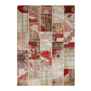 Patchwork Beige/Red 240 x 170 30185