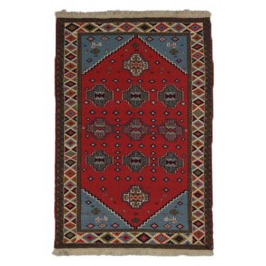 Khorassan Soumak Kilim Red 184 x 128